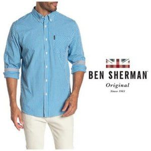 Ben Sherman Blue Long Sleeve Classic Shirt Sz M